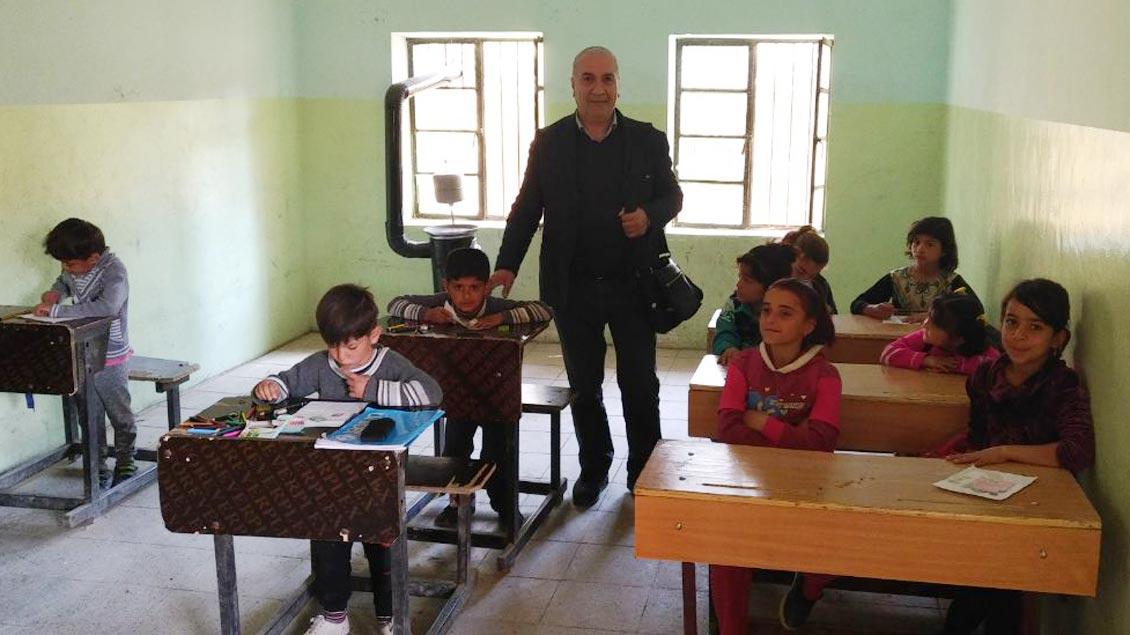 Schule im Shingal-Gebirge.