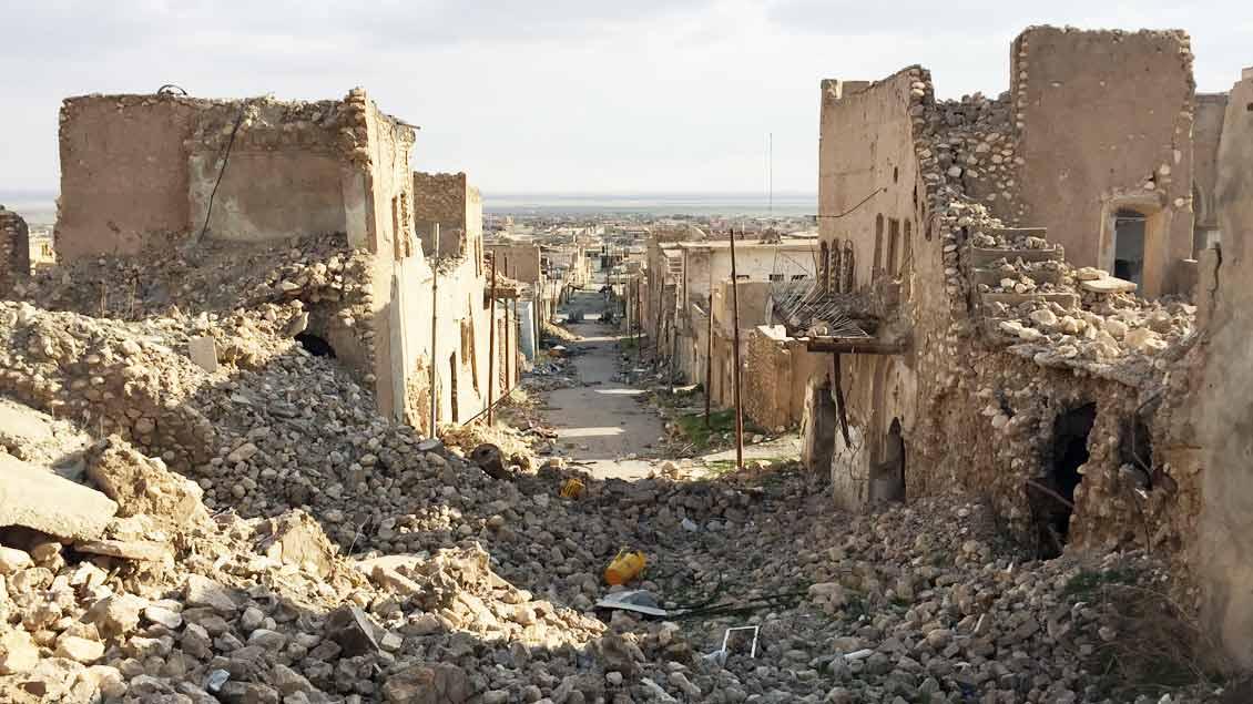 Shingal-Stadt ist die größte Stadt nahe des Shingal-Gebirges im kurdisch kontrollierten Norden Iraks.