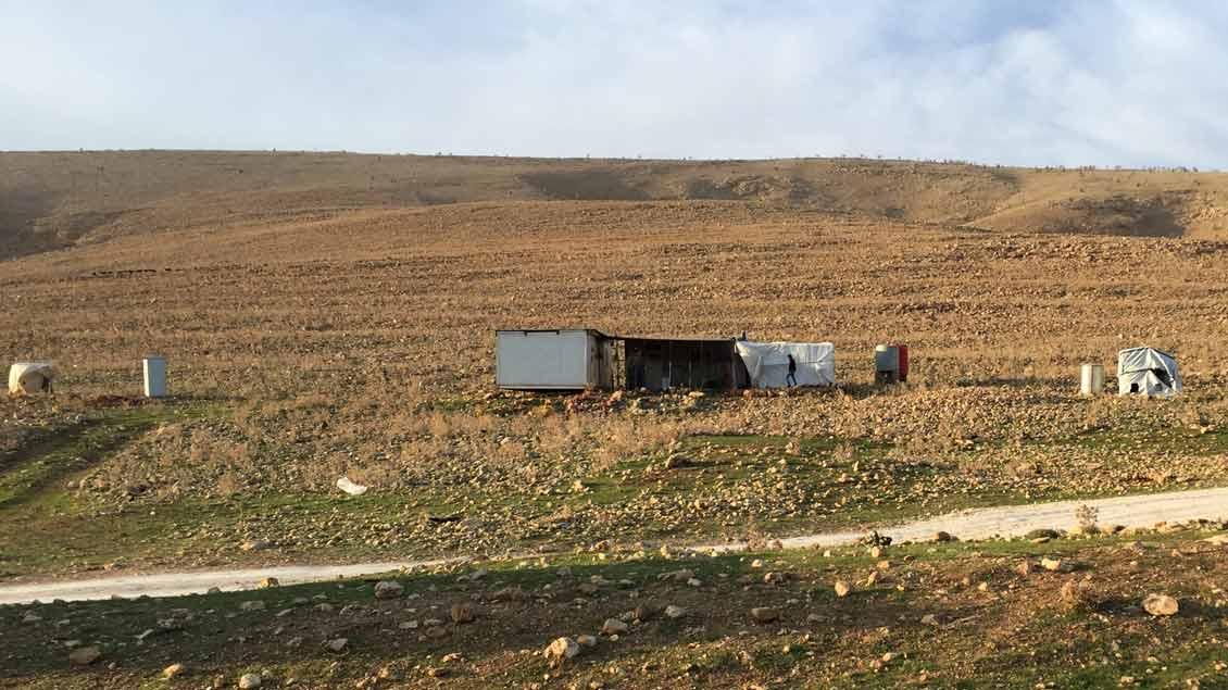 Wohn-Container im Gebirge.
