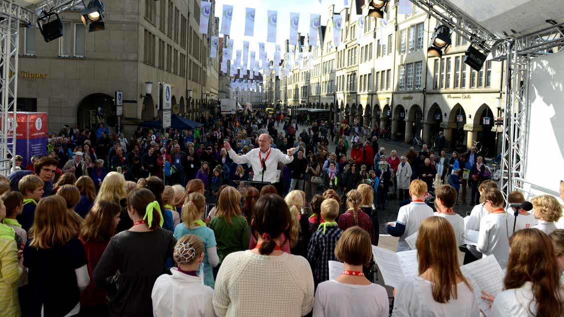 Zahlreiche Sänger und Instrumentalisten aus dem Bistum werden während des Katholikentags in Kirchen, auf Straßen und Plätzen von Münster musizieren.