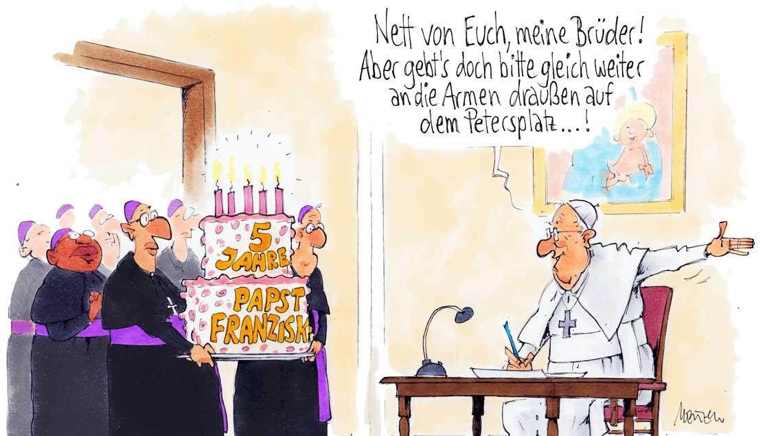 Papst Franziskus wünscht sich eine Kirche für die Armen.