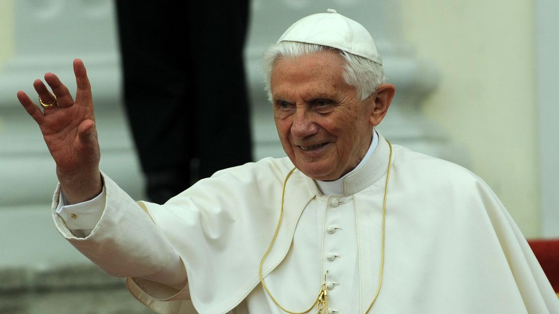 Papst Benedikt XVI. bei seinem Deutschlandbesuch 2011