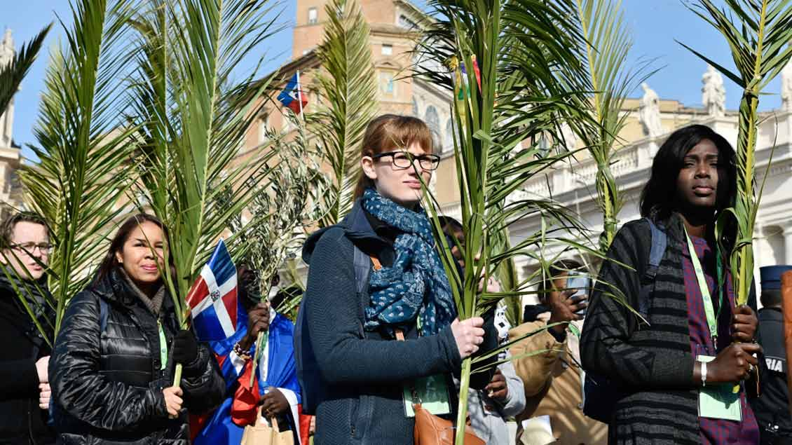 Palmsonntags-Prozession in Rom. Foto: KNA