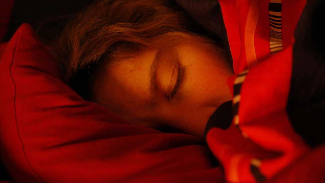 Schlafender Mensch
