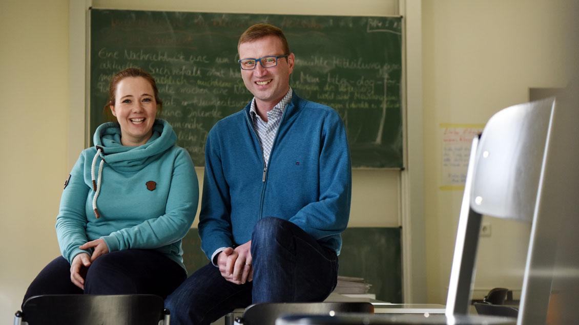 Esther Röder und Bruder Konrad begleiteten die Schüler intensiv.