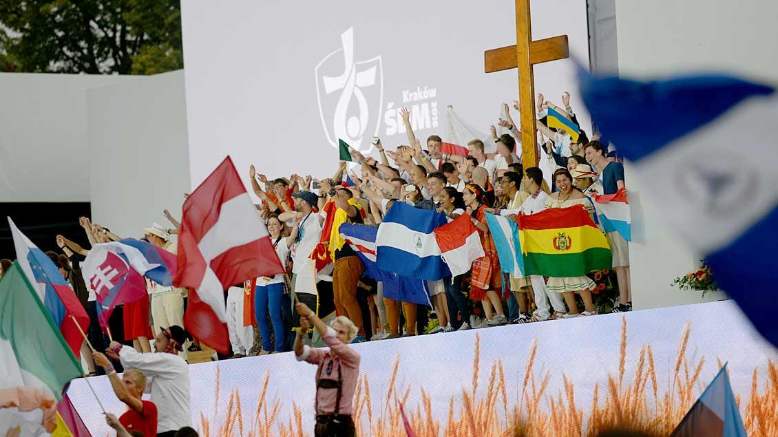 Jugendliche beim Weltjugendtag in Krakau.