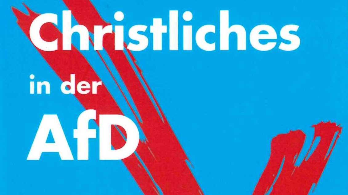"""Cover des Buches """"Christliches in der AfD""""."""