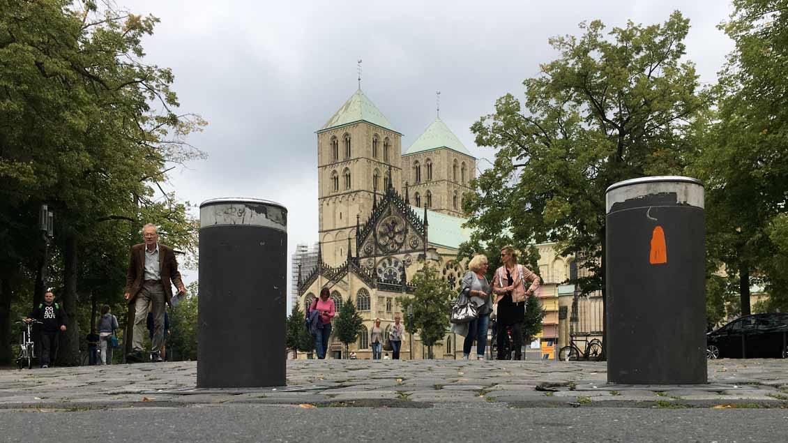 Absperrungen dürfte es beim Katholikentag in Münster auch auf dem Domplatz geben.