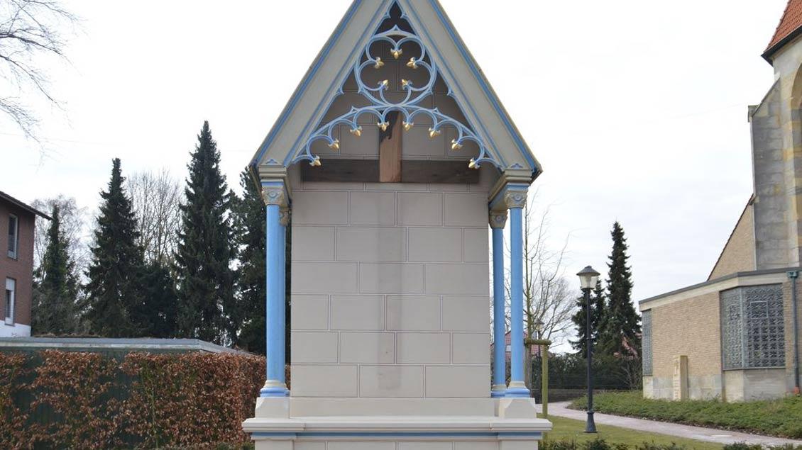 Aus dieser Missionsstation in Heek wurde die Jesus-Figur entwendet.