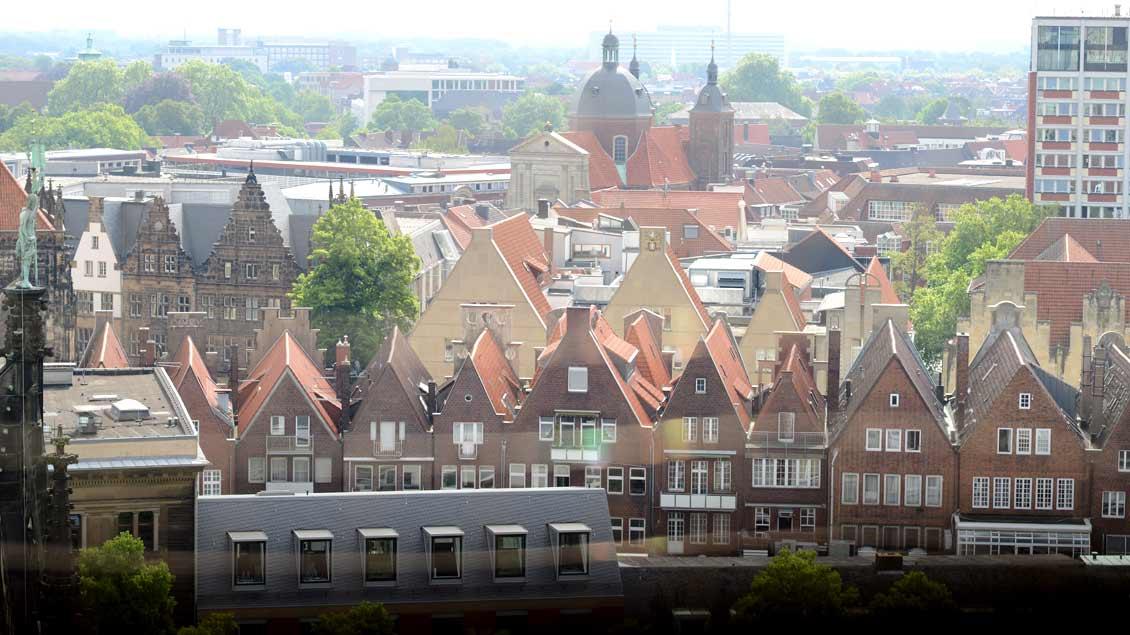 Archiv-Foto der Altstadt von Münster, in der es zu einem Zwischenfall mit mehreren Toten und Verletzten gekommen ist.