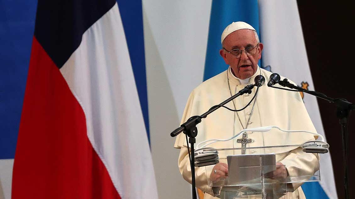 Papst Franziskus, hier bei einer Ansprache während seiner Chile-Reise im Januar.
