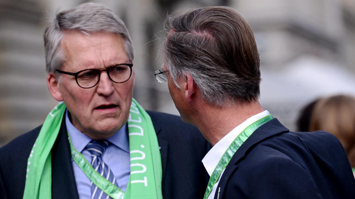 Thomas Sternberg (links), Präsident des Zentralkomitees der Katholiken, wohnt selber in Münster. Dort findet im Mai der 101. Katholikentag statt.