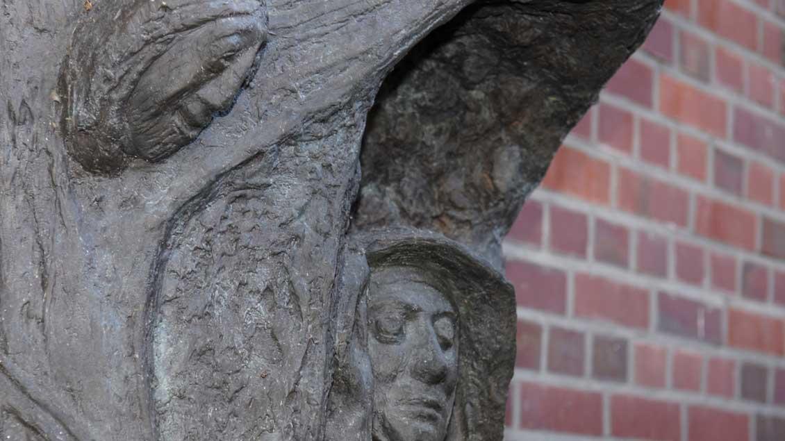 Relief zum Gedenken an Edith Stein in der Frauenstraße in Münster.