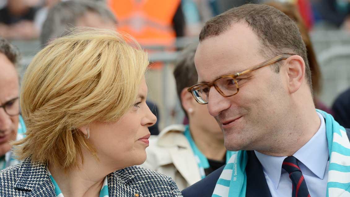 Bundeslandwirtschaftsministerin Julia Klöckner und der aus dem Münsterland stammende Bundesgesundheitsminister Jens Spahn.   Foto: Michael Bönte.
