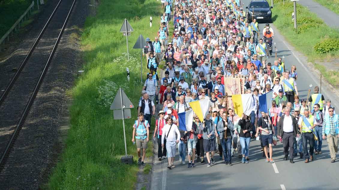Beobachtungen von der Wallfahrt des Katholikentags von Münster nach Telgte. | Foto: Michael Bönte
