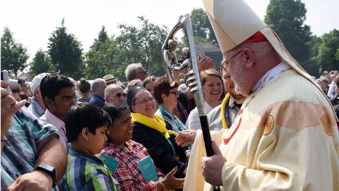 Kardinal Reinhard Marx nach dem Abschlussgottesdienst. | Foto: Michael Bönte