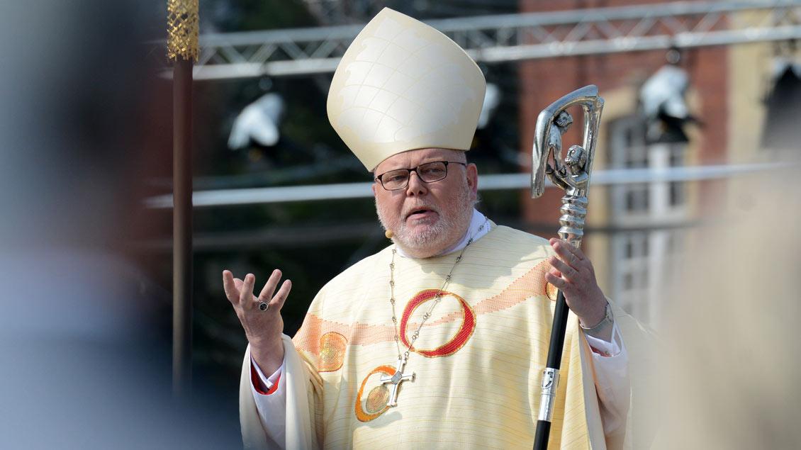 Kardinal Reinhard Marx, Vorsitzender der Deutschen Bischofskonferenz, hielt die Predigt beim Abschlussgottesdienst. | Foto: Michael Bönte