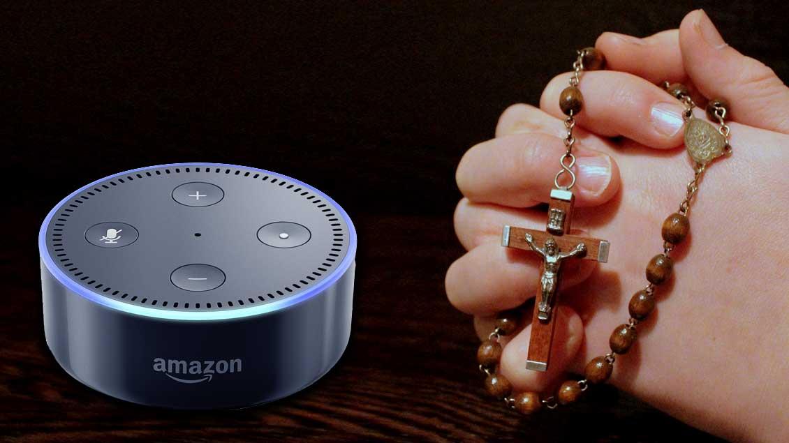 Beten mit Alexa. Fotomontage: Martin Schmitz