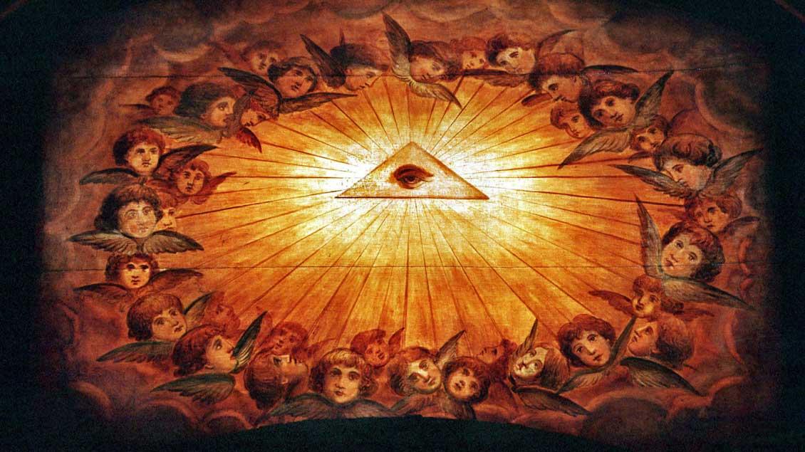 Göttliches Dreieck: Dreifaltigkeit in der Basilika Santa Maria Maggiore, Rom.
