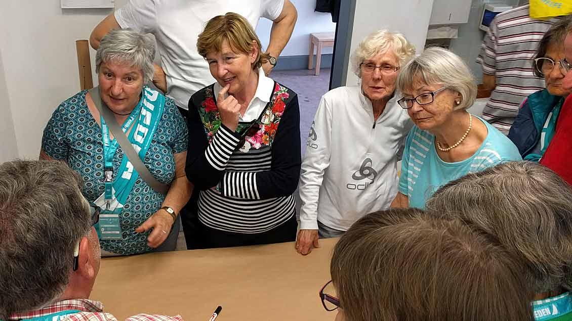 Diskussionen beim Werkstattgespräch über die Zukunft von Gemeinden.