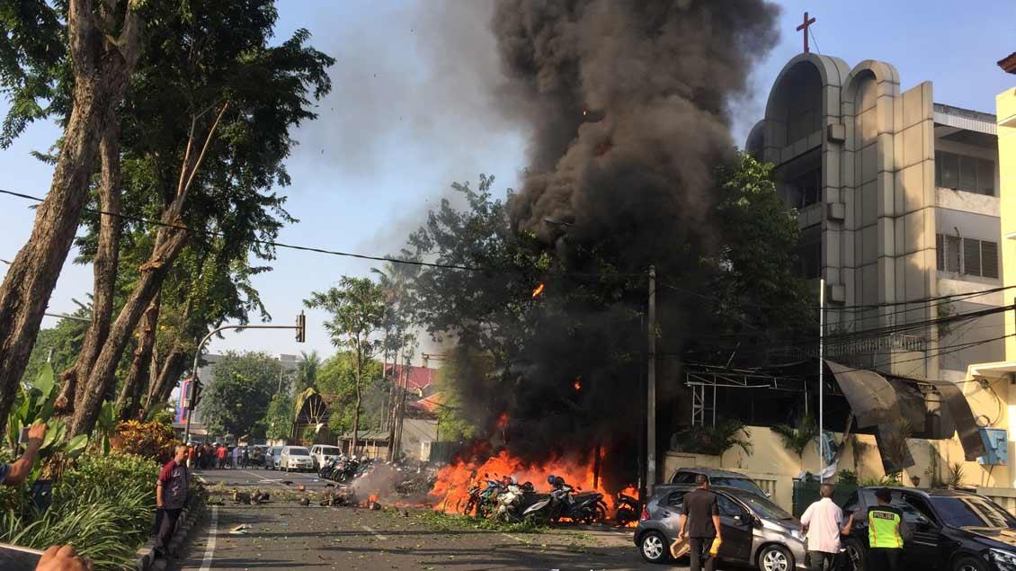 Indonesien: Anschläge auf Kirchen mit neun Toten