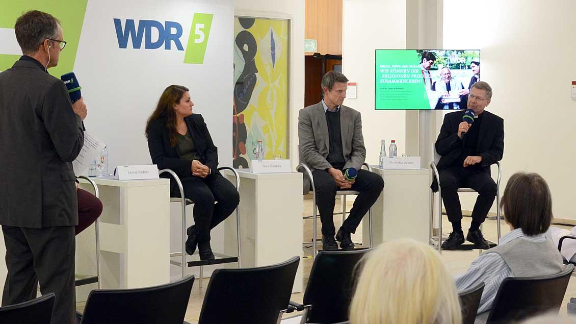 "Das ""WDR-5-Stadtgespräch"". Foto: Ann-Christin Ladermann (pbm)"