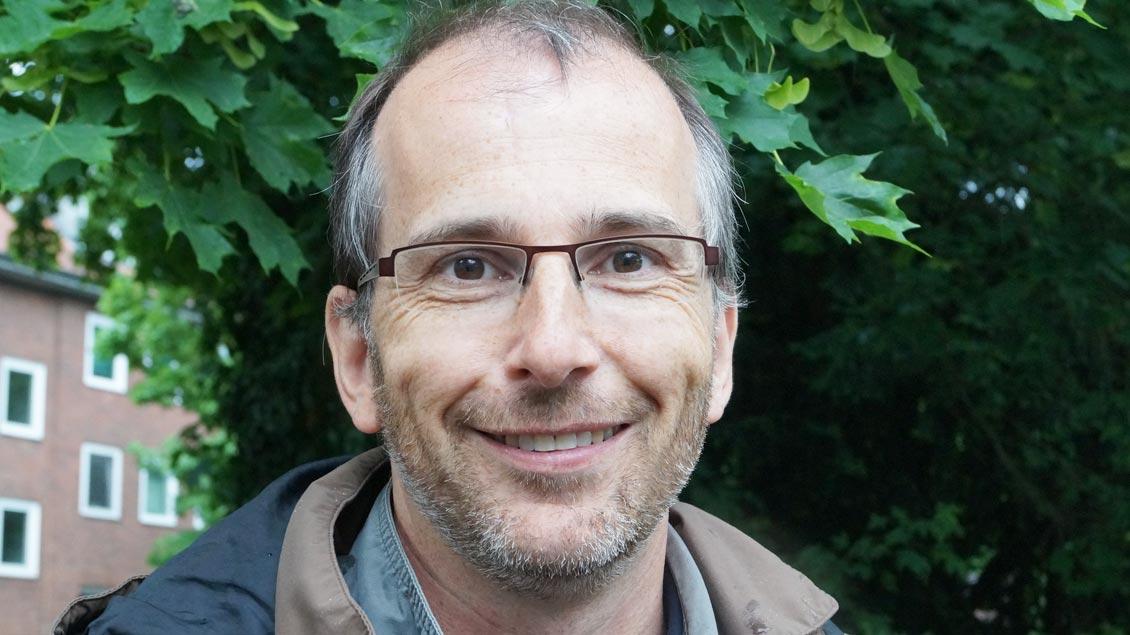 """Markus Raveaux, Münster: """"Es ist schön, dass hier so viele Menschen sind, die aus dem gleichen Grund zusammenkommen."""""""