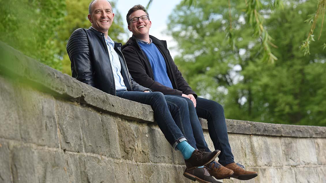 Heinrich Thoben (links) und Niklas Belting