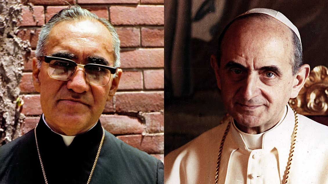 Oscar Romero und Paul VI. Foto: KNA