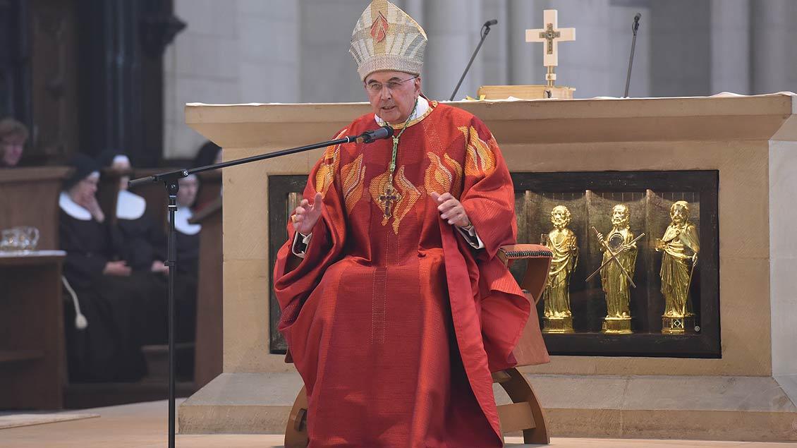 Bischof Felix Genn predigt im St.-Paulus-Dom. | Foto: Michael Bönte