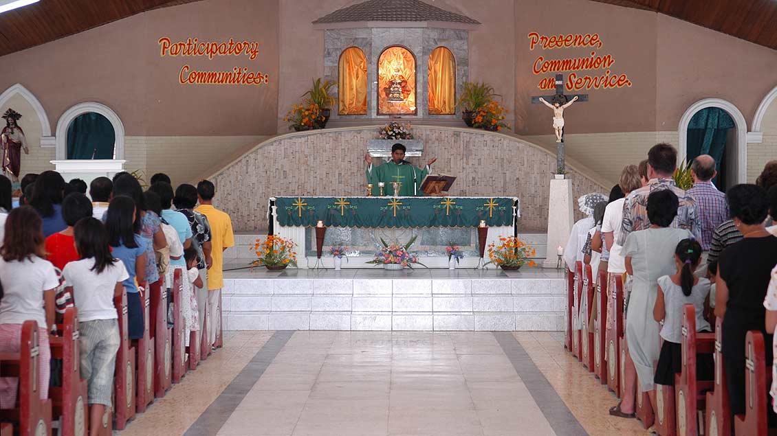 Kirche auf der philippinischen Insel Bantayan