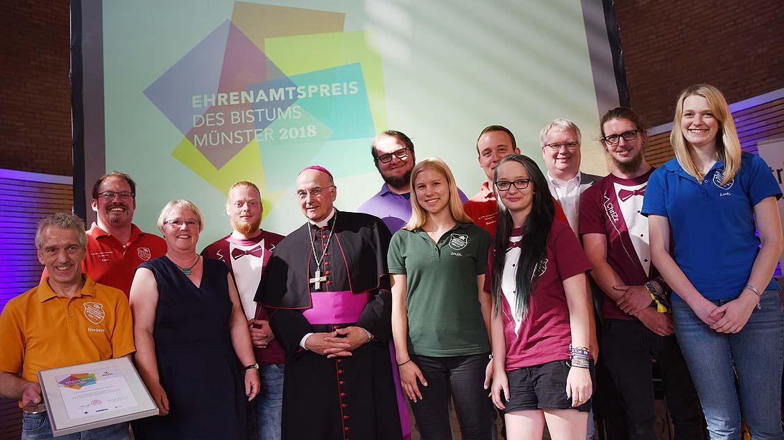 Den dritten Preis, dotiert mit 2000 Euro, erhielt der Verein DJK Eintracht Stadtlohn, die seit Jahren integrative Ferienlager in Hönningen an der Ahr anbietet.