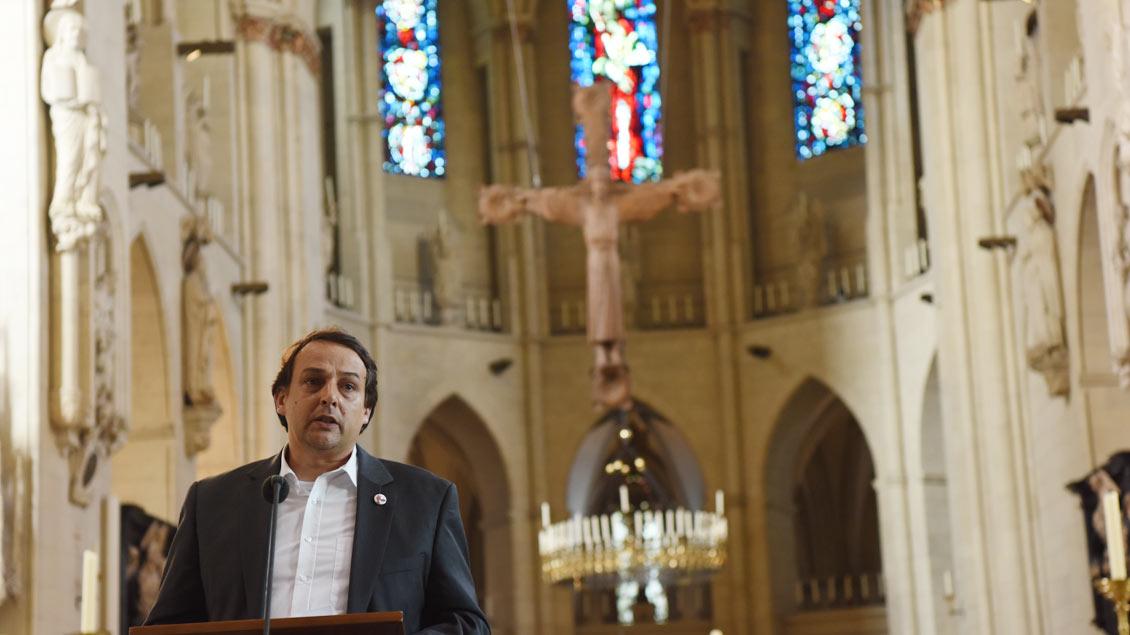 Thomas Flammer vom Institut für die Geschichte des Bistums Münster ist Initiator der Ausstellung. | Foto: Michael Bönte