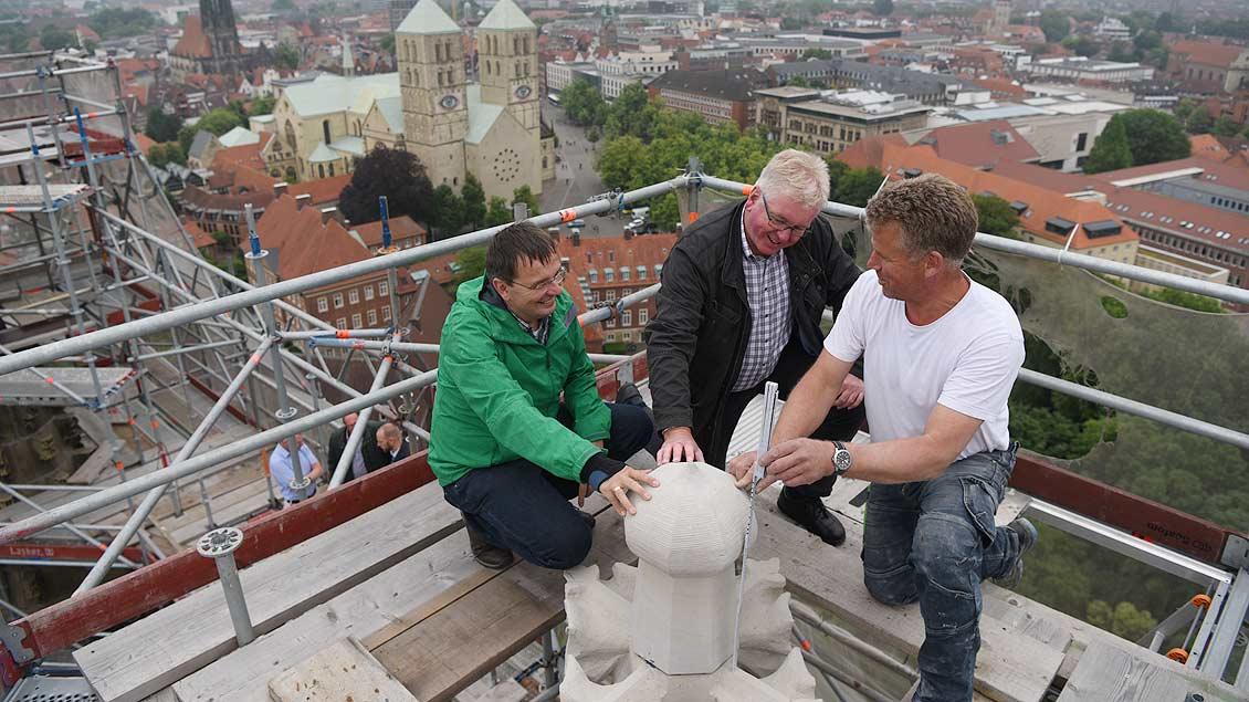 Restaurierung der Übewasserkirche in Münster Foto: Michael Bönte