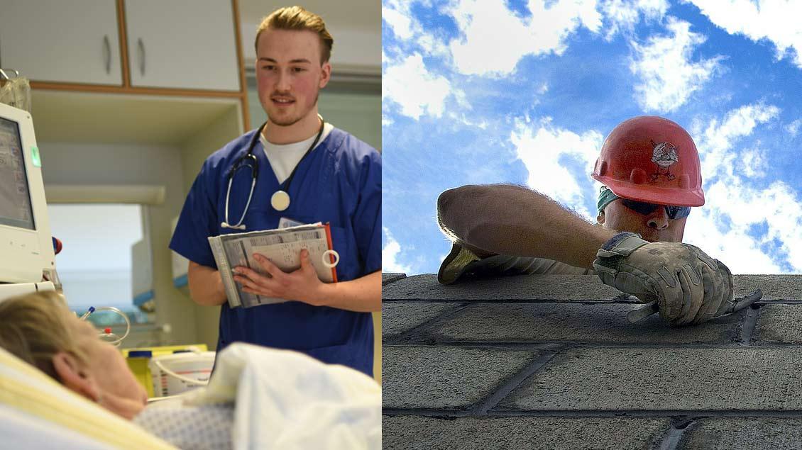Angehende Pflegekräfte verdienen bei der Caritas im Bistum Münster mehr als Maurer-Azubis.