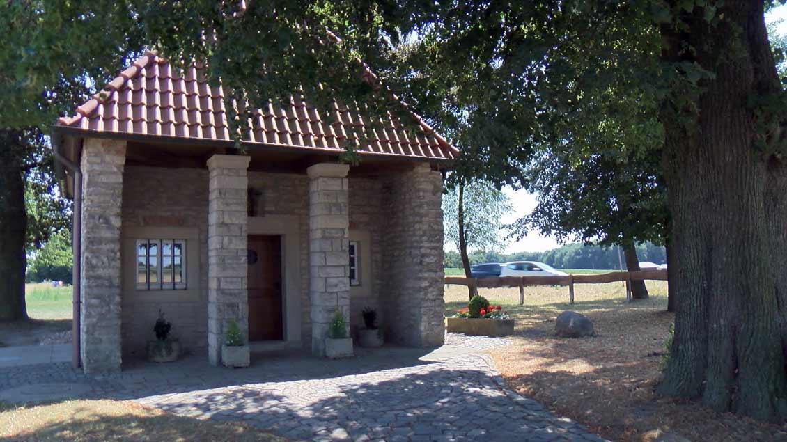 Die Antonius-Kapelle auf dem Schöppinger Berg.