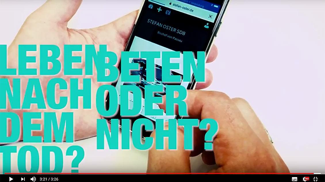 """In dem neuen YouTube-Magazin """"Osterfragen!"""" bekommen User eine Antwort von Bischof Stefan Oster."""