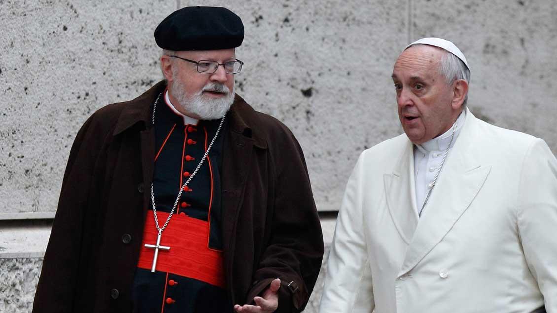 Der Vorsitzende der Päpstlichen Kinderschutzkommission, Kardinal Sean O'Malley, hier mit Papst Franziskus.