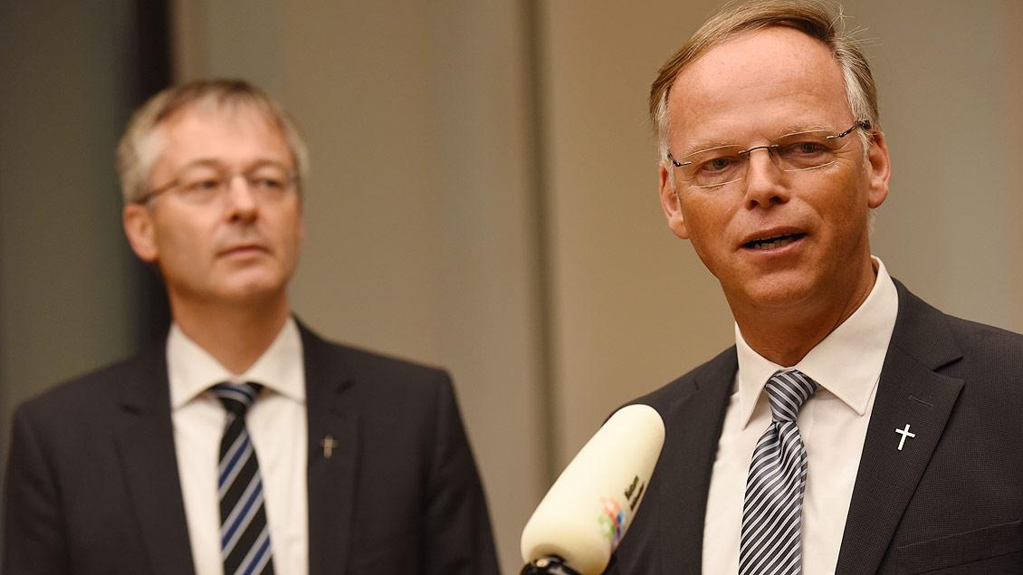Klaus Winterkamp (rechts) und Norbert Köster.
