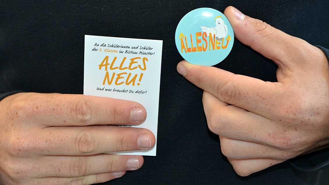 """""""Alles Neu"""" steht auf dem Button."""