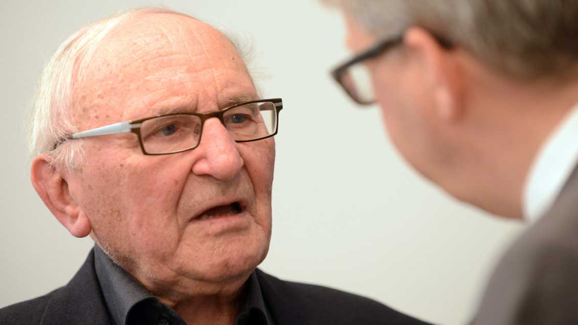 Johann Baptist Metz (links) wird am Sonntag 90 Jahre alt.
