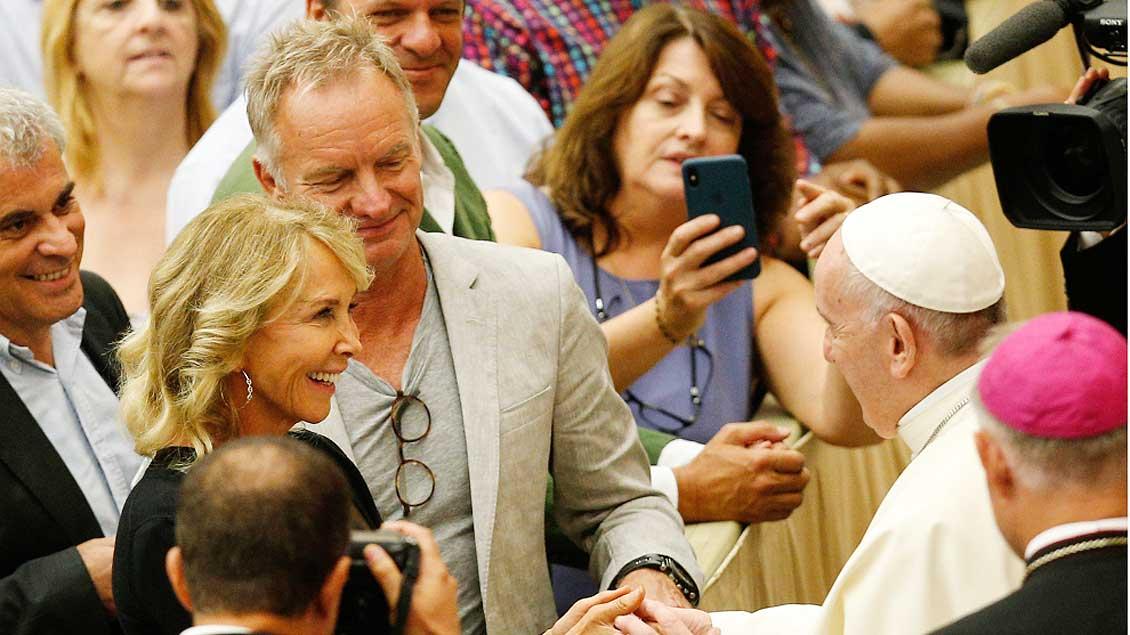 Sting und der Papst