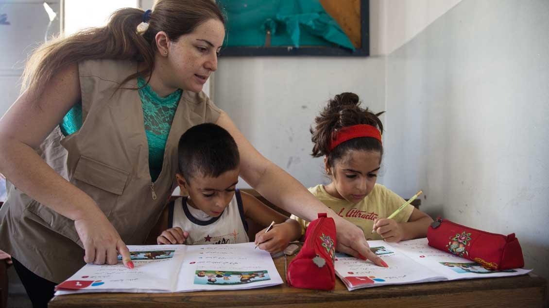 Spenden der Katholikentags-Besucher gehen unter anderem an ein Projekt der Caritas mit Schülern im Libanon.