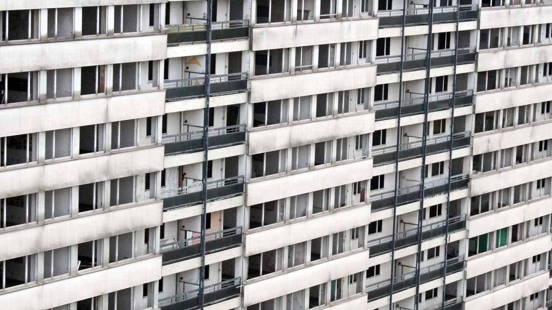 Weiße Riesen in Duisburg.