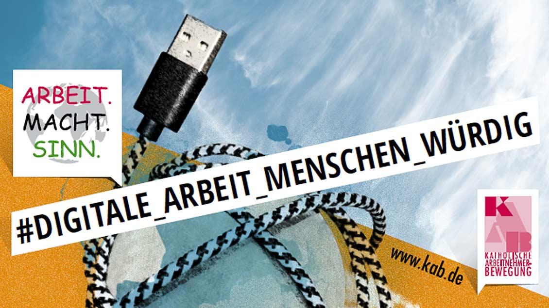 Mit einer Fotoaktion am 6. Oktober will die Katholische Arbeitnehmerbewegung (KAB) im Bistum Münster auf faire Bedingungen in der Arbeitswelt 4.0 aufmerksam machen. Foto: KAB