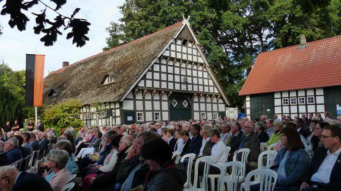 Zum ersten Mal fand der Kolpingtag auch auf dem Gelände eines Bauernhofs statt.