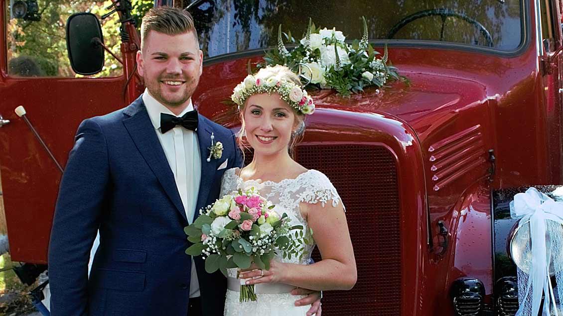 Ende August gaben sich Anja und Tammo Dirks ihr Ja-Wort. Kennengelernt hatten sie sich 2013 in einem Hospiz.
