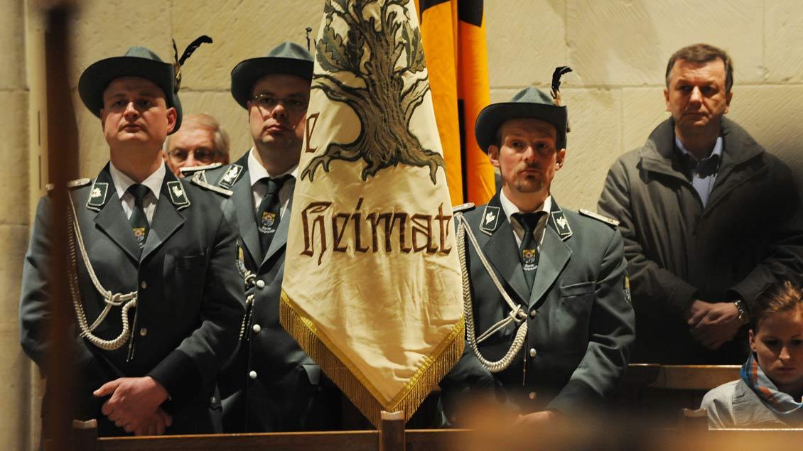 Schützenbrüder im Paulusdom.