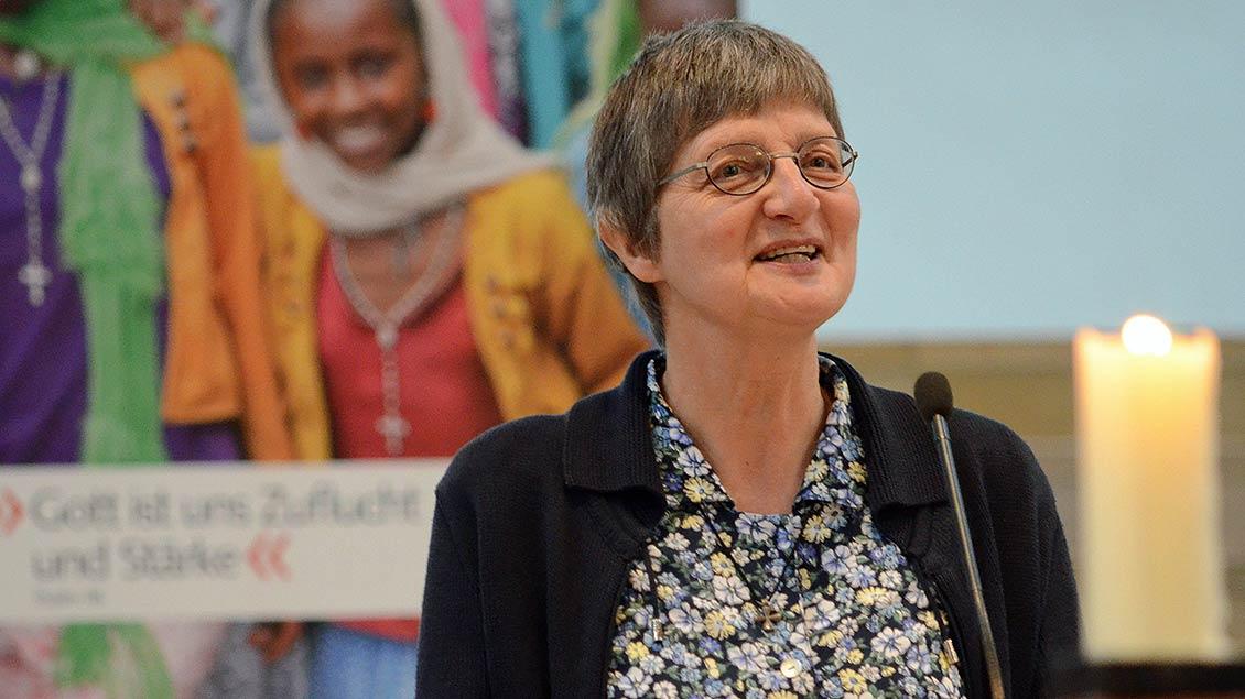 Im Gottesdienst berichtete Schwester Rita Schiffer über ihre Arbeit im Attat-Landkrankenhaus und dankte den Dülmenern für ihre Unterstützung.