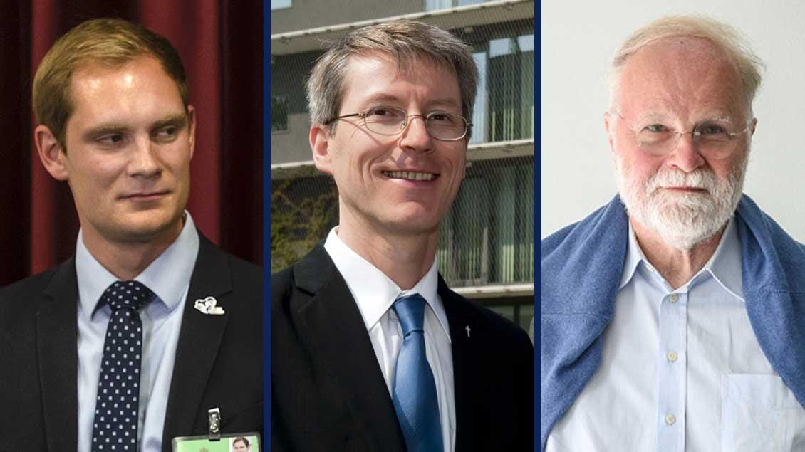 (von links): Paul Metzlaff, Ulrich Rhode und Manfred Lütz.